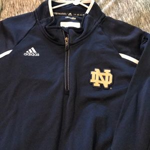 Adidas Notre Dame 1/4 zip pullover